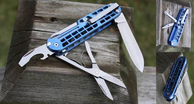 модификация ножа от SAKModder с клипсой и облегченной рукояткой