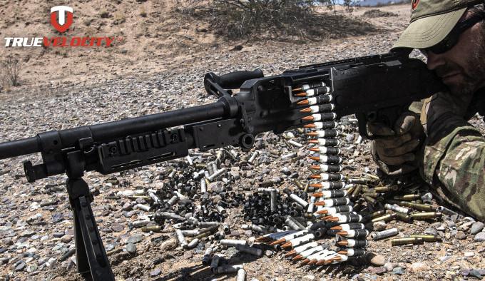патроны True Velocity 6,8 TVCM в пулемёте M240