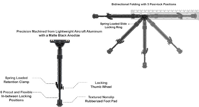 конструкция и возможности сошек Leapers UTG Recon Flex
