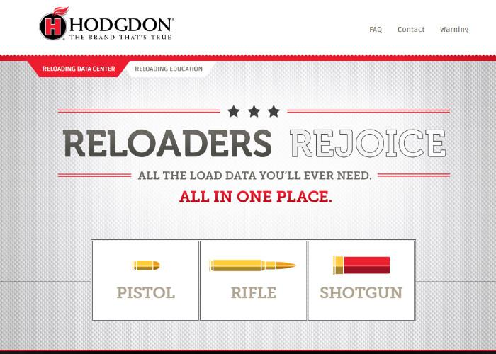 Интерактивные данные для снаряжения патронов от Hodgdon