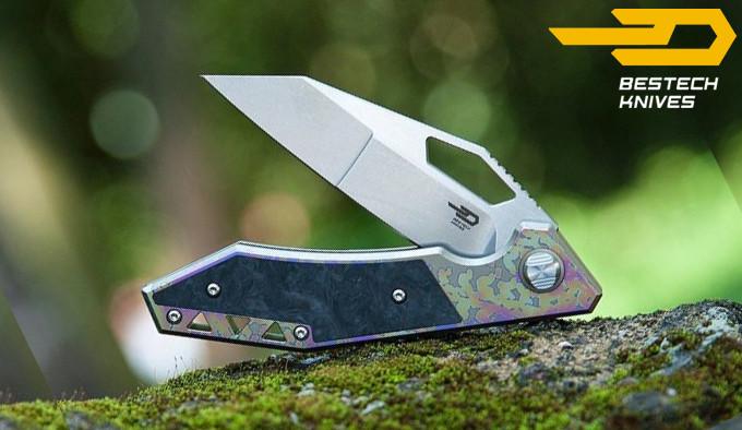 складной нож с титановой рукояткой и клинком из стали S35VN