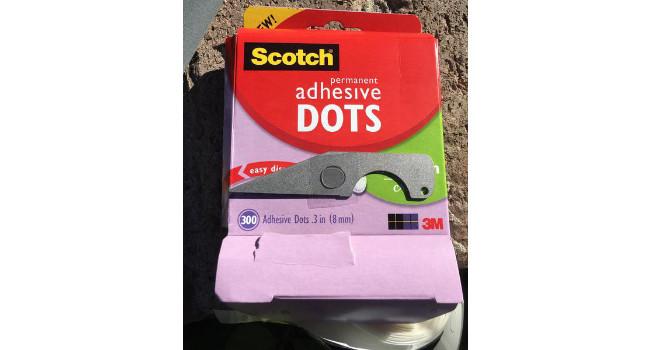 клеевые точки Scotch Adhesive Dots с ножом Gearward HemiSERE