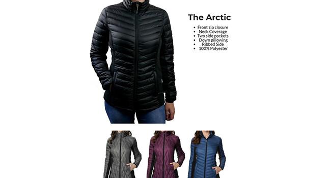 Штопанный пуховик The Arctic