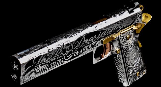 пистолет JJFU 1911 для Дональда Трампа