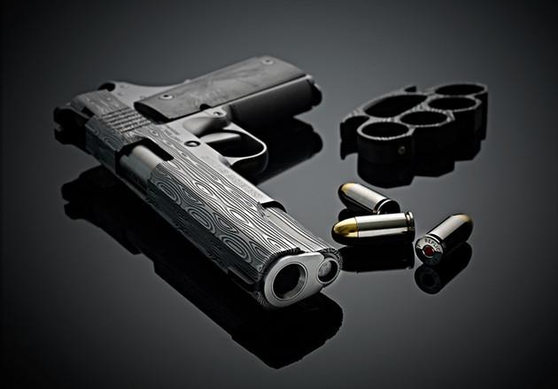 Пистолет Cabot Guns Damascus Ladder Deluxe из дамасска