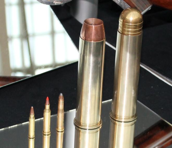 Сравнение калибров 17 HMR, 17 и 22 Hornet, 4 Bore