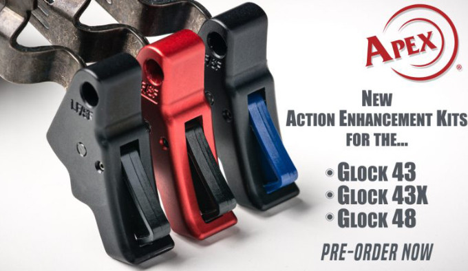 комплект деталей спуска для самозарядных пистолетов Glock 43, 43X и 48
