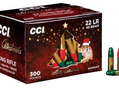 Рождественские патроны CCI .22 LR с разноцветными пулями