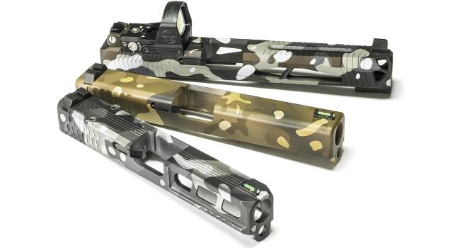 пистолетные затворные рамки Lone Wolf с покрытием Cerakote Battlecam