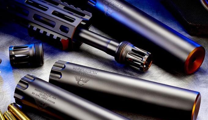 винтовочный цельный глушитель из стали