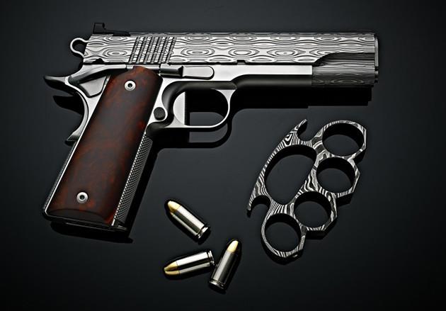 пистолет Cabot Guns Damascus Sonoran Desert Ironwood