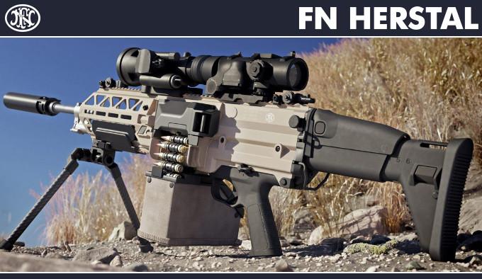 Пулемет FN EVOLYS с прицелом