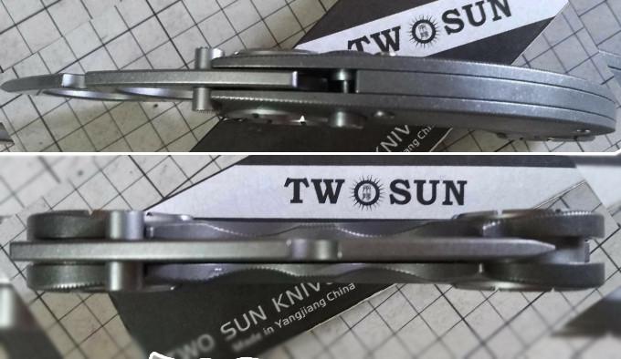 Нож-кастет TwoSun TS330 сверху