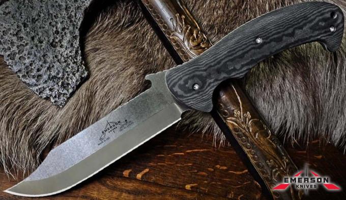 крупный нож формата Боуи с клинком из стали 154 CM