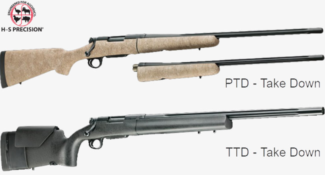 Разборные высокоточные винтовки H-S Precision TDR