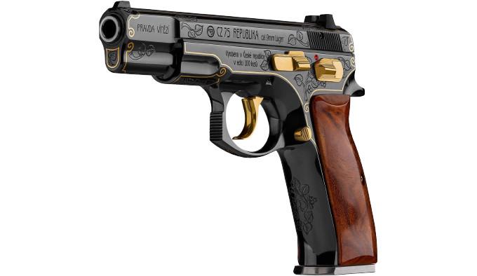 Подарочный пистолет CZ 75 Republika сбоку