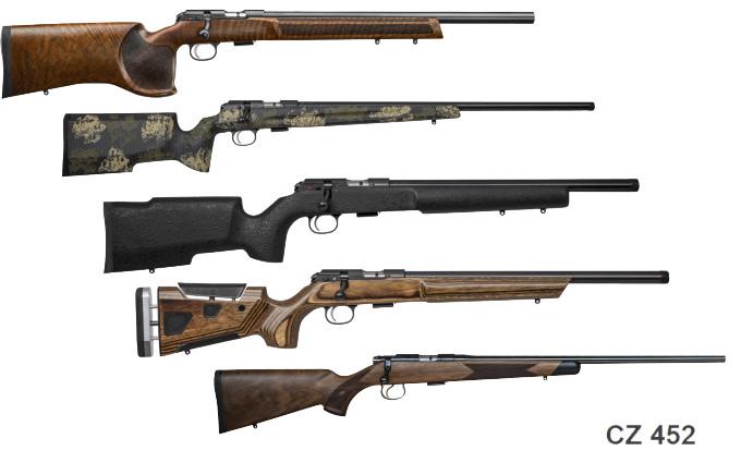 Линейка мелкокалиберных винтовок CZ 457