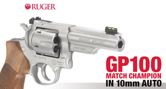 Револьвер Ruger GP100 Match Champion 10mm Auto