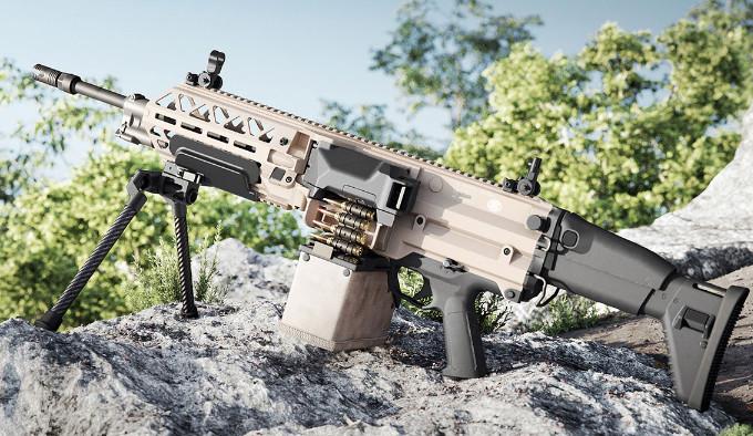 Пулемет FN EVOLYS с лотком патронов