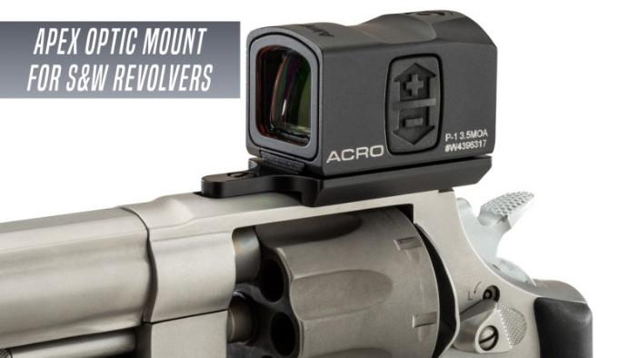 крепёж формата платформы для установки коллиматорного прицела Aimpoint Acro P-1 на револьвер Smith & Wesson