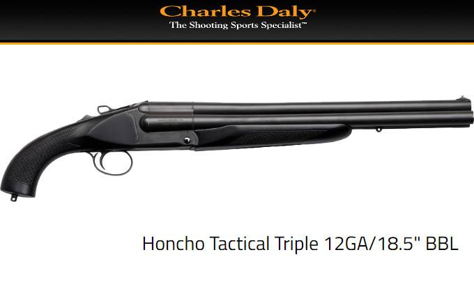 Трехствольное ружье Honcho Tactical Triple 12GA BBL