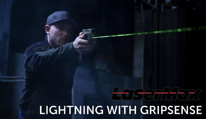 Лазерный целеуказатель LaserMax Lightning GripSense