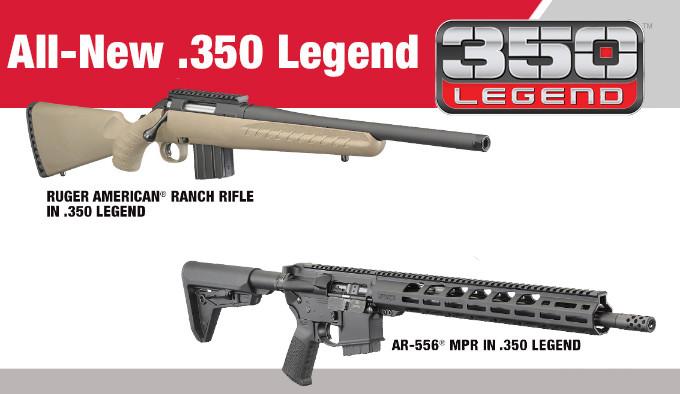 Новые винтовки Ruger в 350 Legend