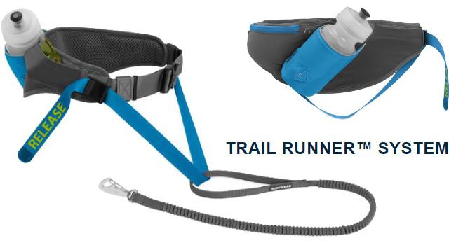 Комплект Trail Runner System для бега по загородной местности, состоящий из поясной сумки, поводка и бутылки для воды