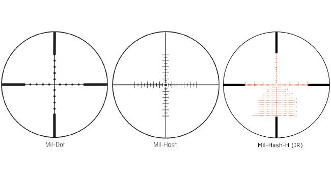 перекрестия Mil-Dot, Mil-Hash, Mil-Hash-H