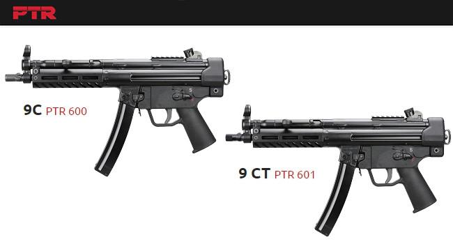 Пистолетные карабины PTR 9C и 9CT