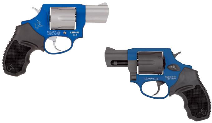 синий револьвер в калибре 38 Special