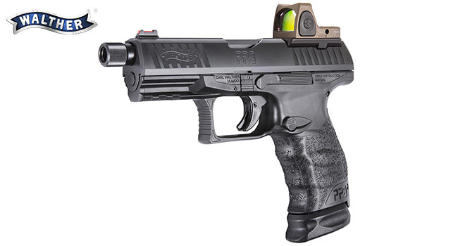 Пистолет Walther Q4 TAC с коллиматором Trijicon