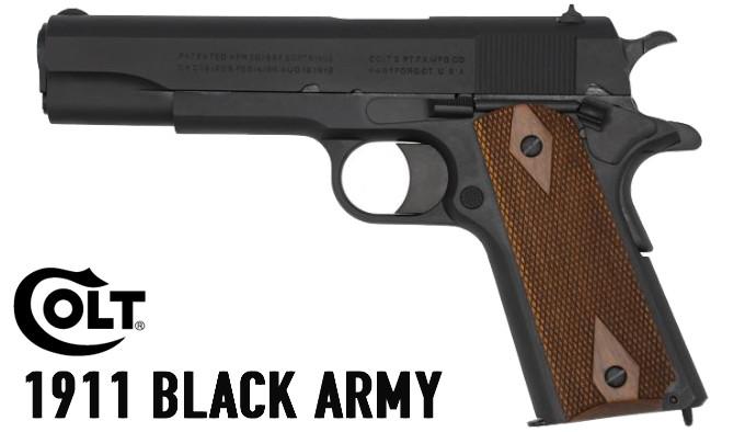 репродукция военного самозарядного пистолета 1911 Black Army