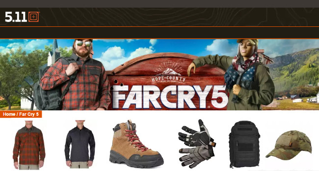 5.11 Tactical и Ubisoft Far Cry 5