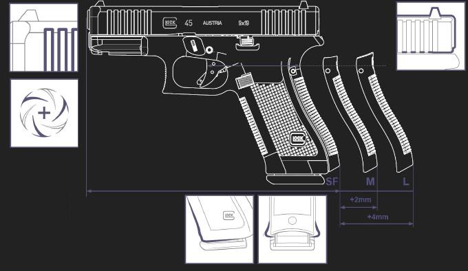 Пистолет Glock G45 MOS