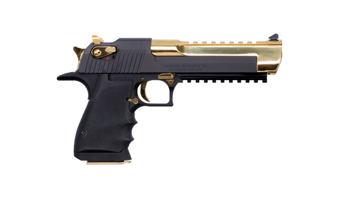 Пистолет Magnum Research Black Titanium Gold Desert Eagle