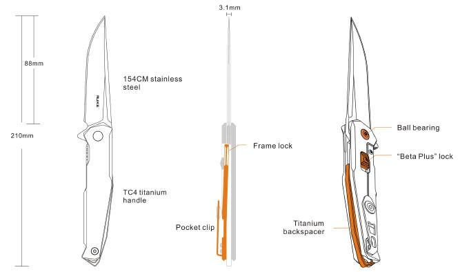 Нож Ruike M108-TZ