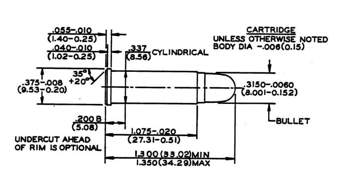 чертеж патрона .32 H&R Magnum из базы SAAMI