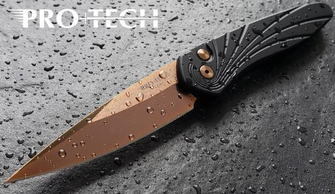 складной полуавтоматический нож с клинком защищённым нитрид-циркониевым покрытием