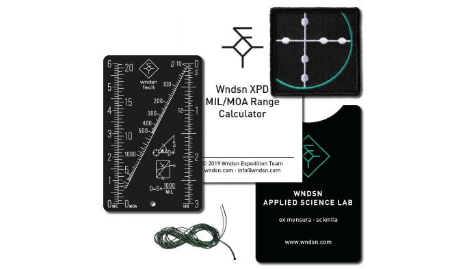 Дальномерная таблица Wndsn Mil/Moa Range Calculator