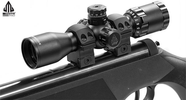 кольца UTG Pro POI на винтовке с фирменным прицелом
