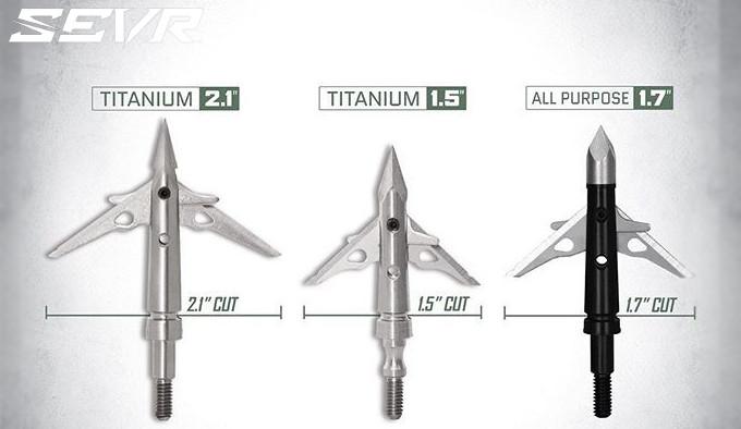 Охотничьи наконечники для стрел SEVR All Purpose и Titanium