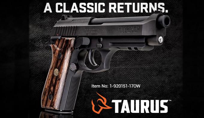 постер пистолета Taurus PT 92 Classic