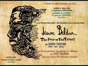 """UNE PROJECTION/DÉBAT EXCLUSIVE DU DOC """"JAMES BALDWIN - THE PRICE OF THE TICKET"""" A PARIS"""