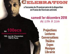 UNE GRANDE JOURNÉE DE CÉLÉBRATION JAMES BALDWIN au 100 ECS de Paris
