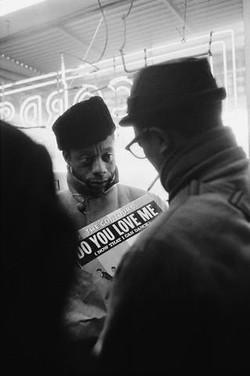 Jimmy et David Baldwin Harlem 1963