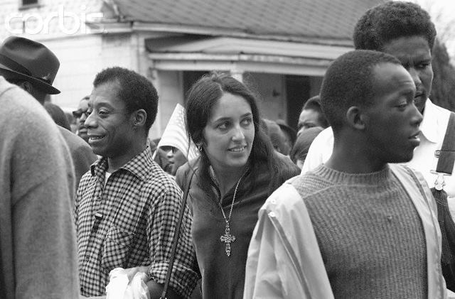Jimmy et Joan Baez à Selma (Alabama)