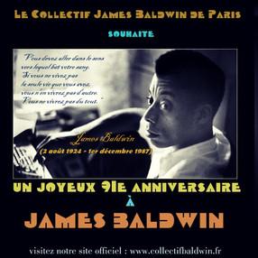 UN GRAND PIQUE-NIQUE ANNIVERSAIRE CE DIMANCHE 2 AOÛT POUR CÉLÉBRER LA NAISSANCE DE JAMES BALDWIN IL