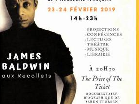 23 et 24 février (de 14h à 23h) - GRAND WEEK-END JAMES BALDWIN au Centre des Récollets de Paris