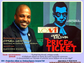 """1er Octobre à 20h - Projection """"JAMES BALDWIN, THE PRICE OF THE TICKET"""" documentaire rare"""